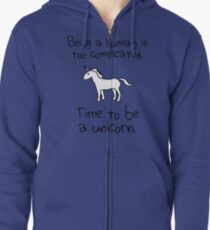 Time To Be A Unicorn Zipped Hoodie