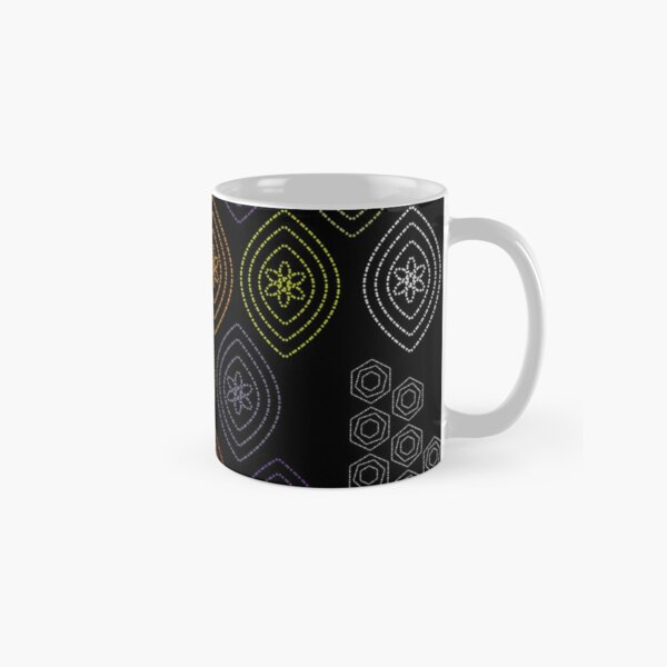 Hand Stitched on Black Ground Classic Mug