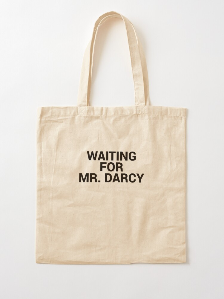 Alternate view of Waiting for Mr Darcy Pride and Prejudice Fan Tote Bag