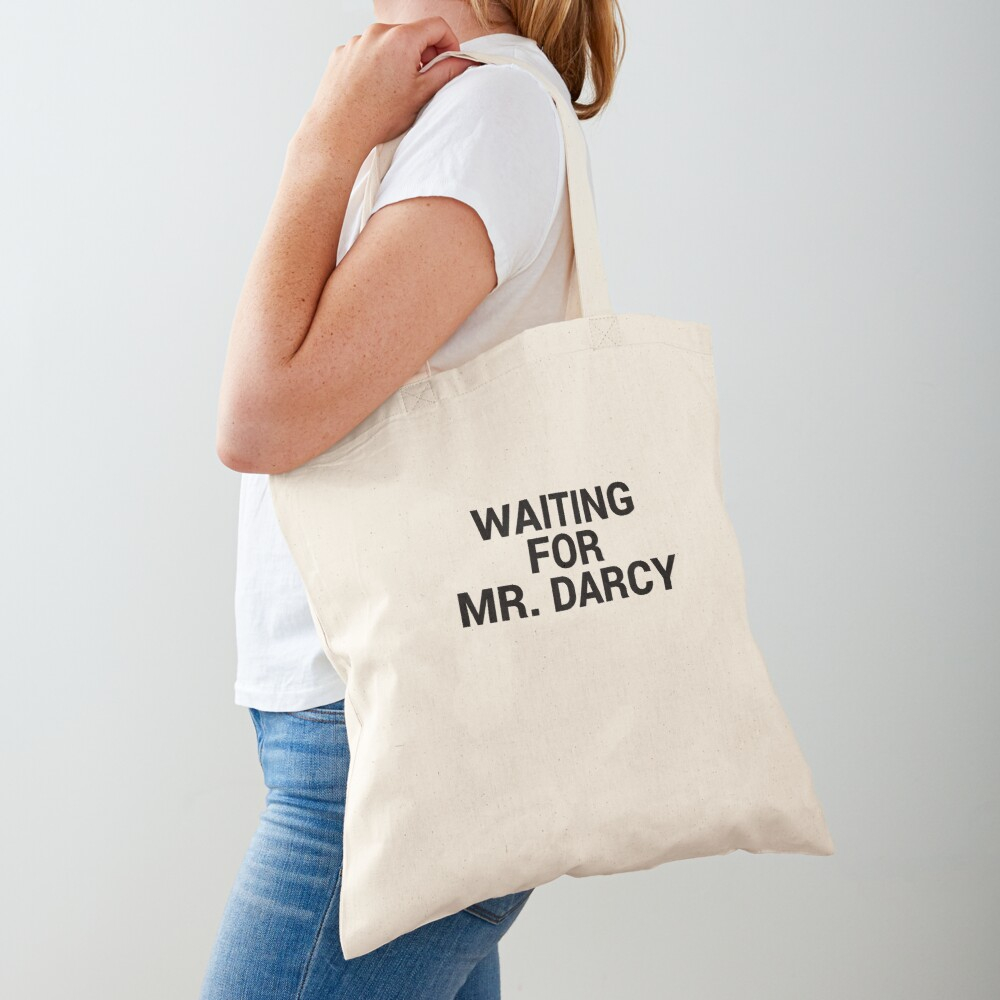Waiting for Mr Darcy Pride and Prejudice Fan Tote Bag