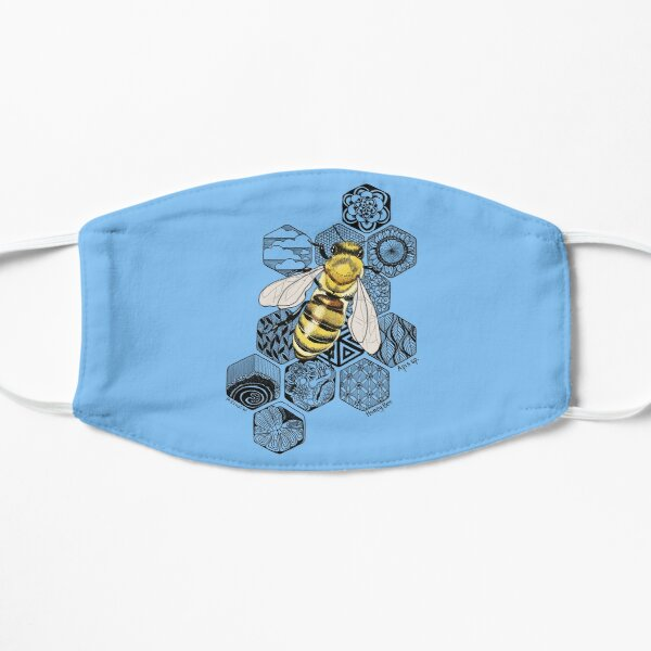 Golden Honey Bee Doodle Mask