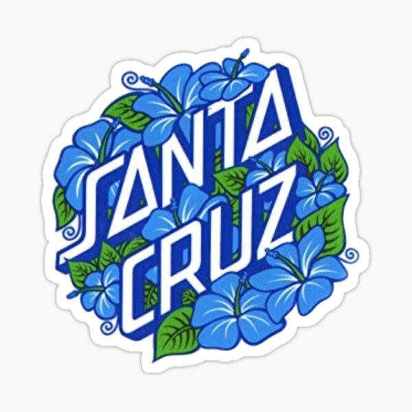 blue flowers Santa Cruz sticker Sticker