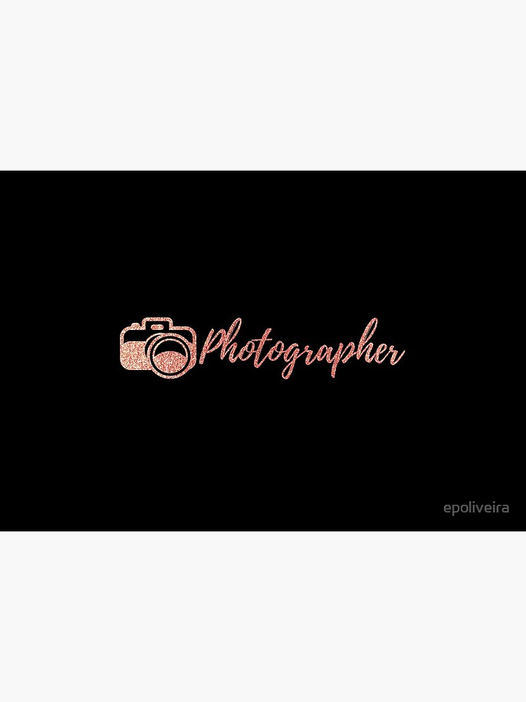 Photographer Rose Gold by epoliveira