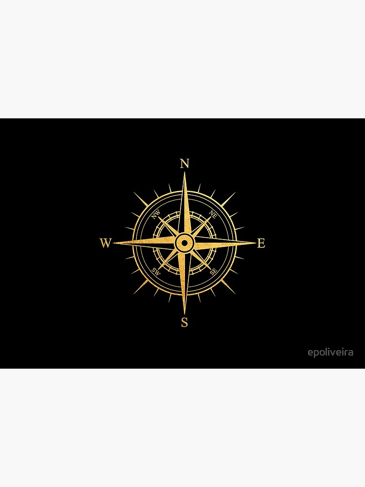Rose of the Winds Gold Compass Symbol by epoliveira