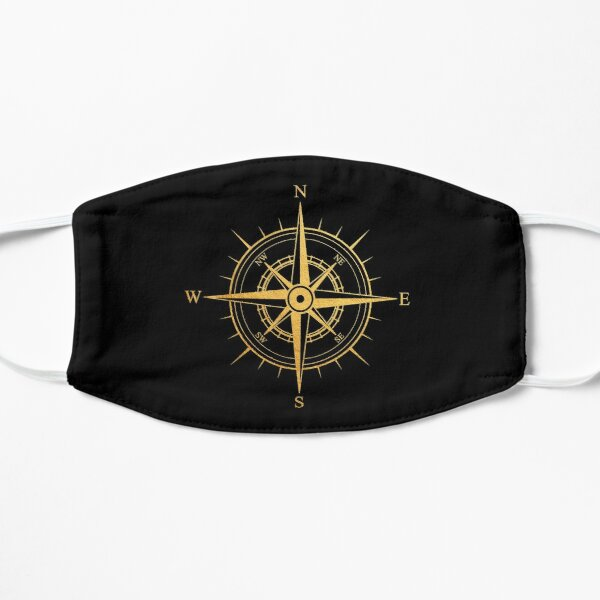 Rose of the Winds Gold Compass Symbol Mask