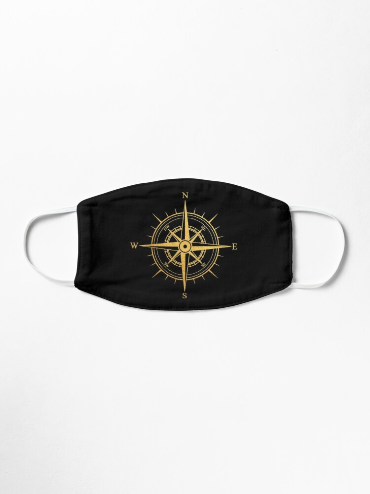 Alternate view of Rose of the Winds Gold Compass Symbol Mask