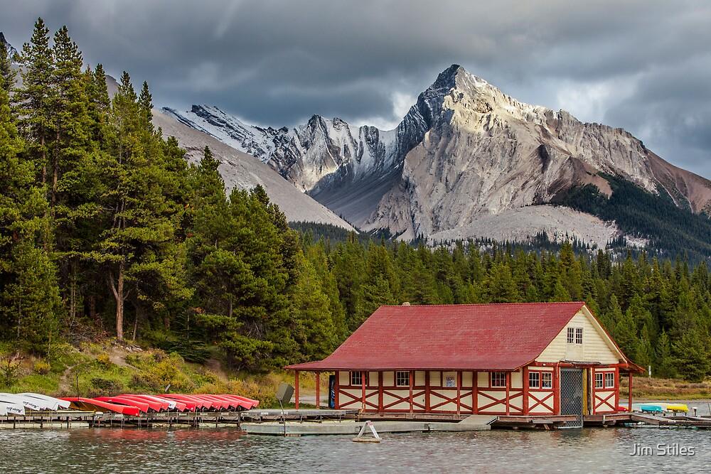 Maligne Lake and Leah Peak by Jim Stiles
