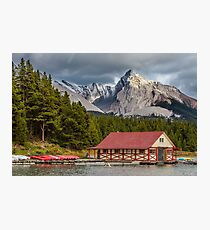 Maligne Lake and Leah Peak Photographic Print