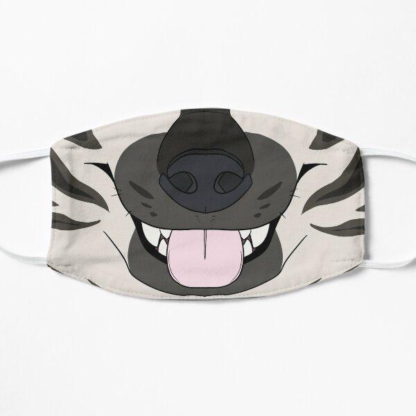 Striped Hyena Face Mask Flat Mask