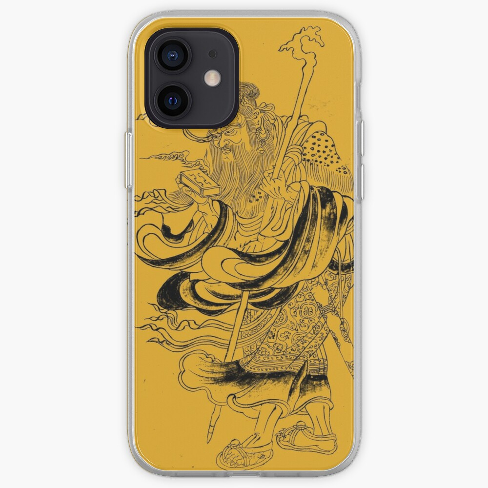Medieval Fantasy Wizard Saturn Asia Outline Art  iPhone Case & Cover