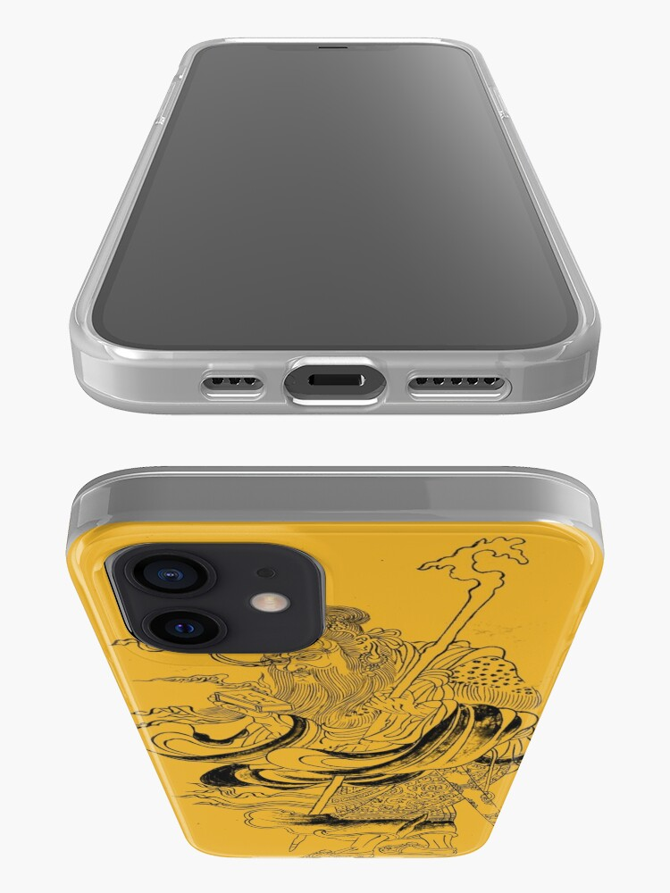 Alternate view of Medieval Fantasy Wizard Saturn Asia Outline Art  iPhone Case & Cover