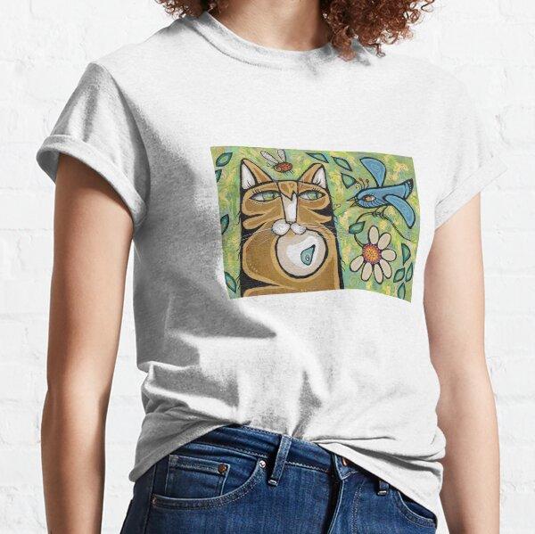 L'oiseau et le chat T-shirt classique