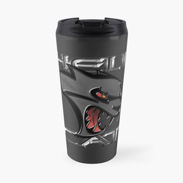 Hellcat Head - Granite Travel Mug