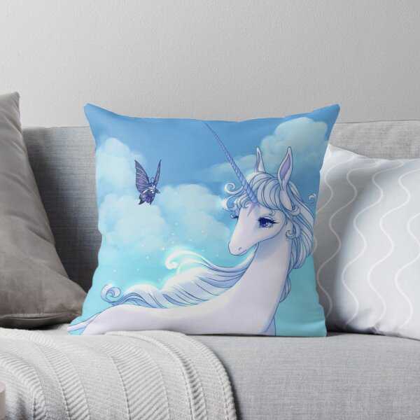 Have you seen others like me? The last unicorn Throw Pillow