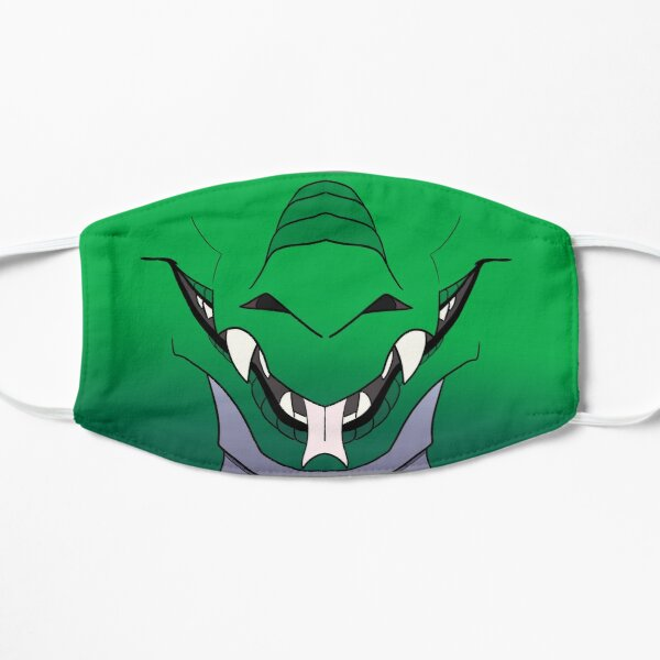 Green Western Dragon Face Mask Flat Mask