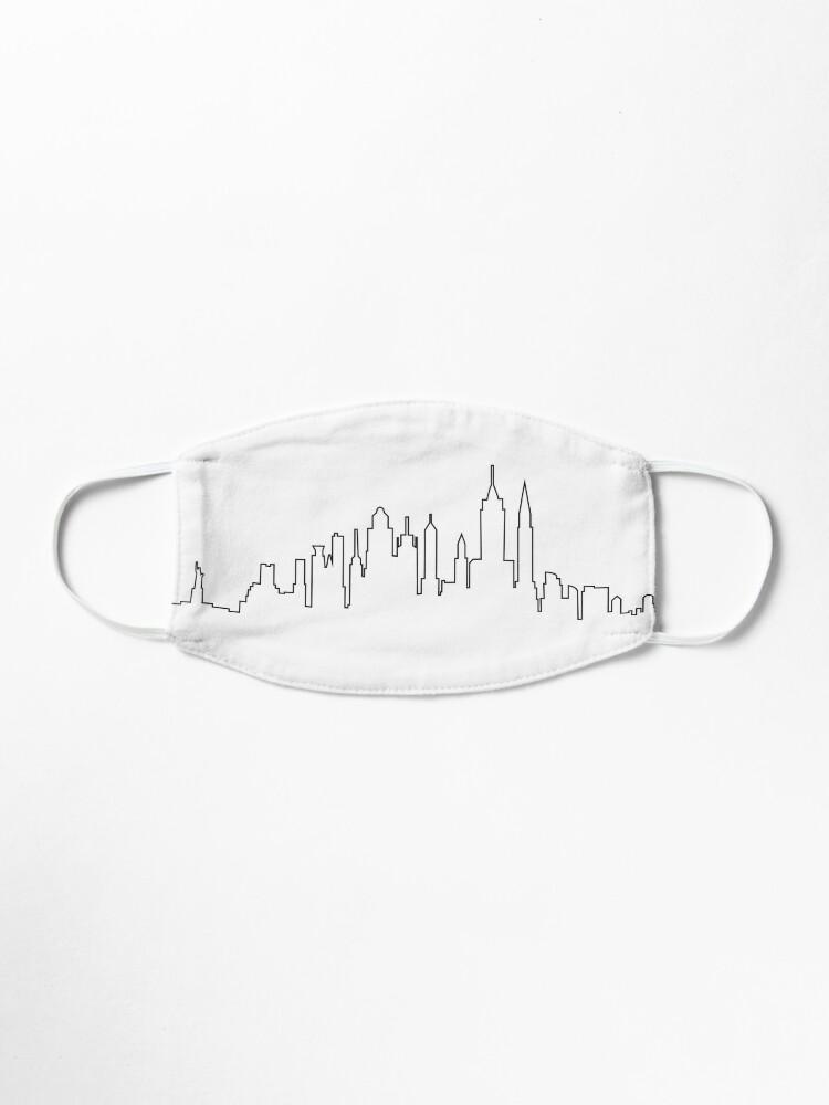 Vista alternativa de Mascarilla Skyline de la ciudad de Nueva York