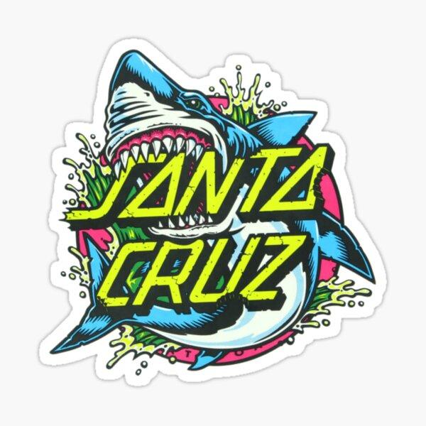 Shark Santa Cruz Sticker Sticker