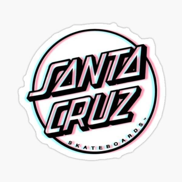 Light leak white Santa Cruz Sticker Sticker