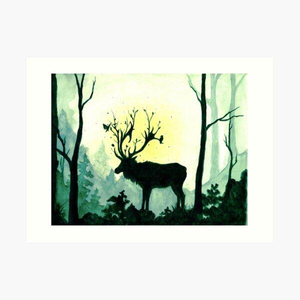 Spring Forest Spirit  Art Print