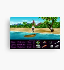 Finally on Monkey Island (Monkey Island 1) Canvas Print
