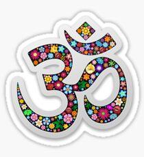 Om Aum Namaste Floral Yoga Symbol  Sticker