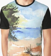 Beach at Mvoti Graphic T-Shirt