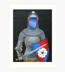The Knight With No Face Art Print