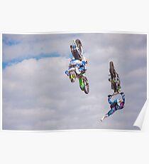 Twin Backflips Poster