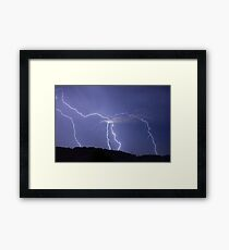 Streaked lightning Framed Print