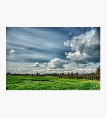 Catching Clouds (colour) Photographic Print