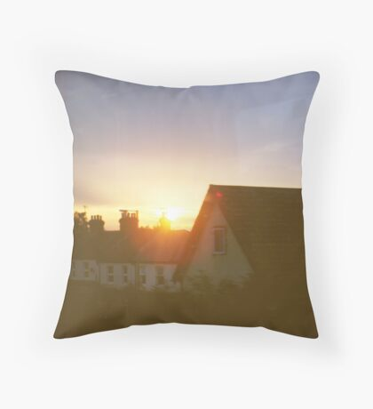 sights of cities and towns Throw Pillow