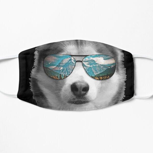 Siberian Husky Shades Mountain Range Mask
