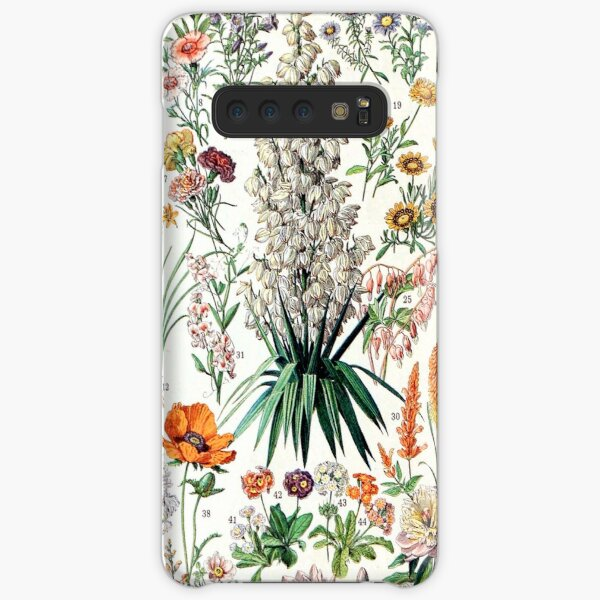 Adolphe Millot - Fleurs B - French vintage poster Samsung Galaxy Snap Case
