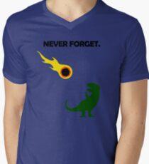 Never Forget (Dinosaurs) Men's V-Neck T-Shirt