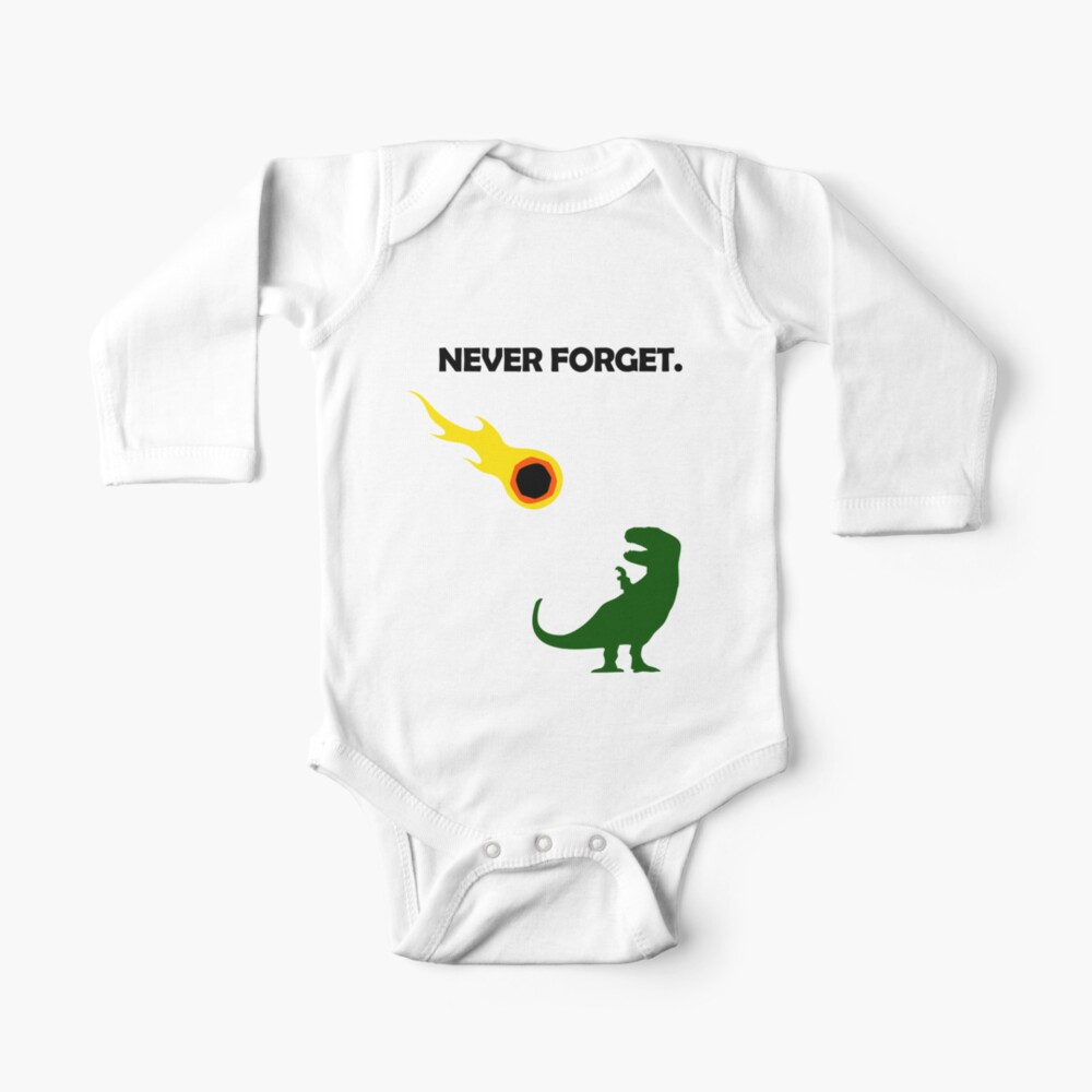 Never Forget (Dinosaurs) Baby One-Piece