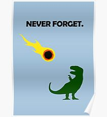 Never Forget (Dinosaurs) Poster