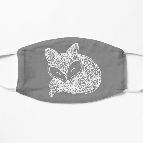 Mandala Black and White Fox Small Mask