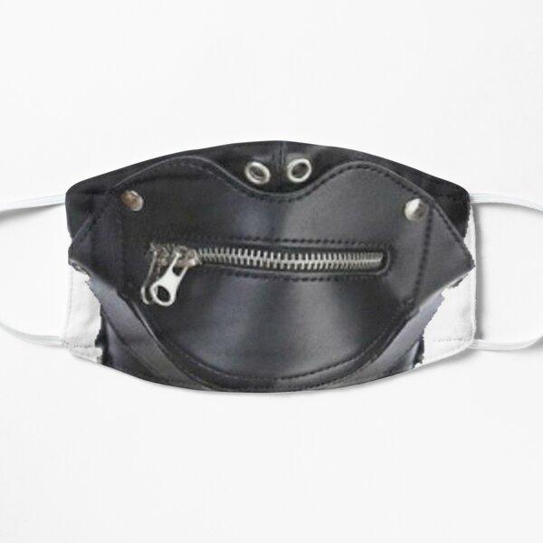 Black Leather Bondage  Mask