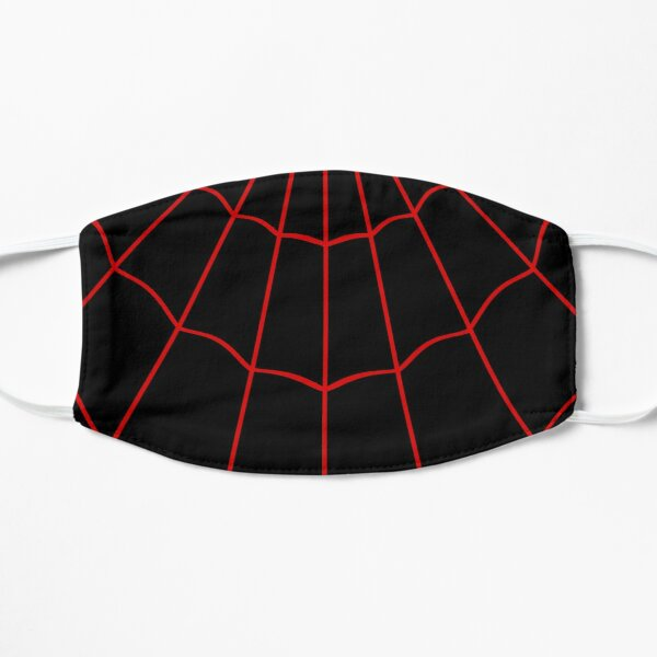 Spider Web - Red / Black Flat Mask