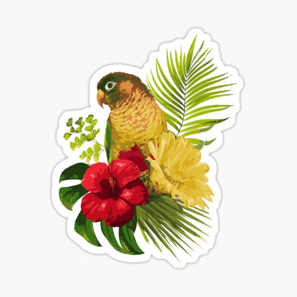 Tropical Parrot Sticker