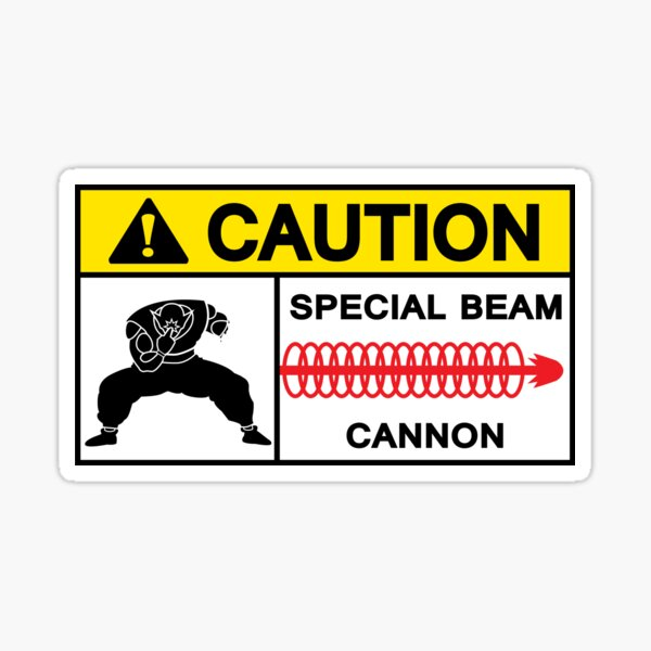 CAUTION - SPECIAL BEAM CANNON Sticker