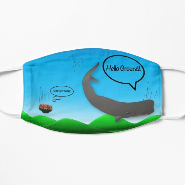 Face Mask - Hitchhikers Guide - Hello Ground - Whale and Petunias Mask