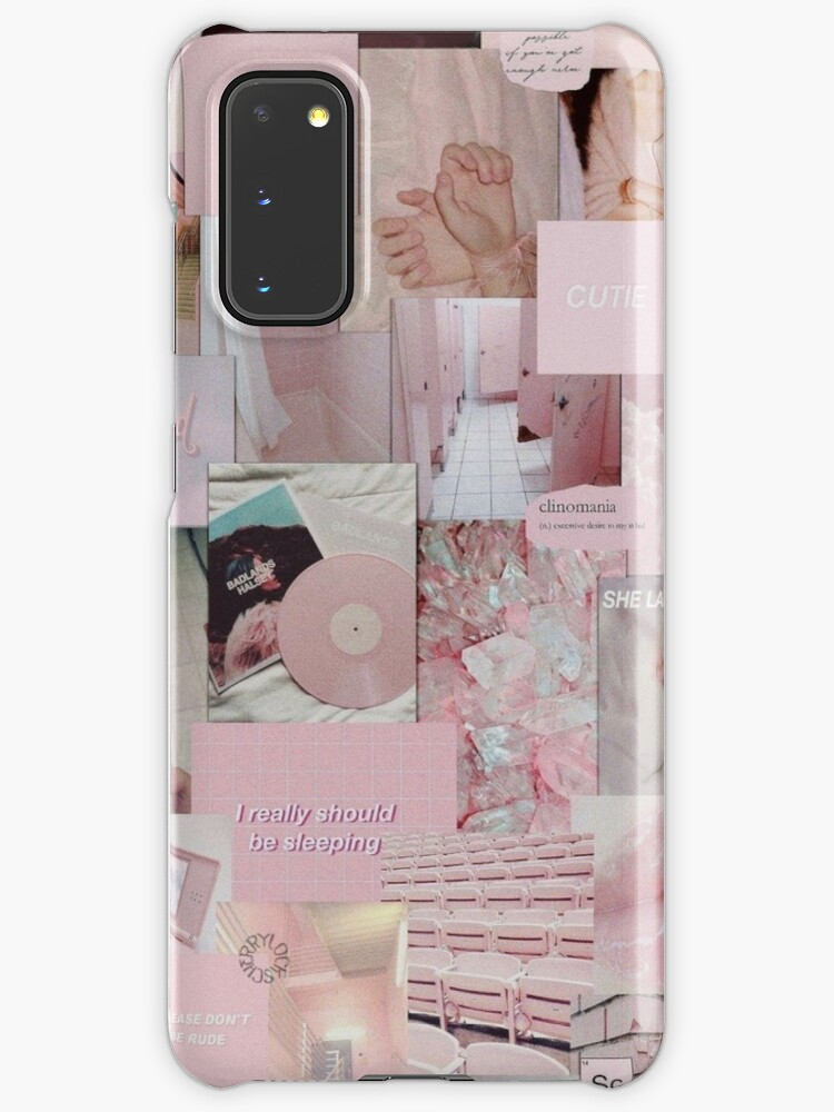 Soft Pink Aesthetic Collage Instagram Mood Board Theme Wallpaper Case Skin For Samsung Galaxy By Jeonqz Redbubble