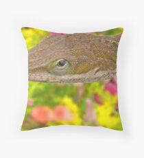 The Carolina anole (Anolis carolinensis) Throw Pillow