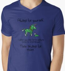 Always be a Unicorn being a Triceratops Men's V-Neck T-Shirt