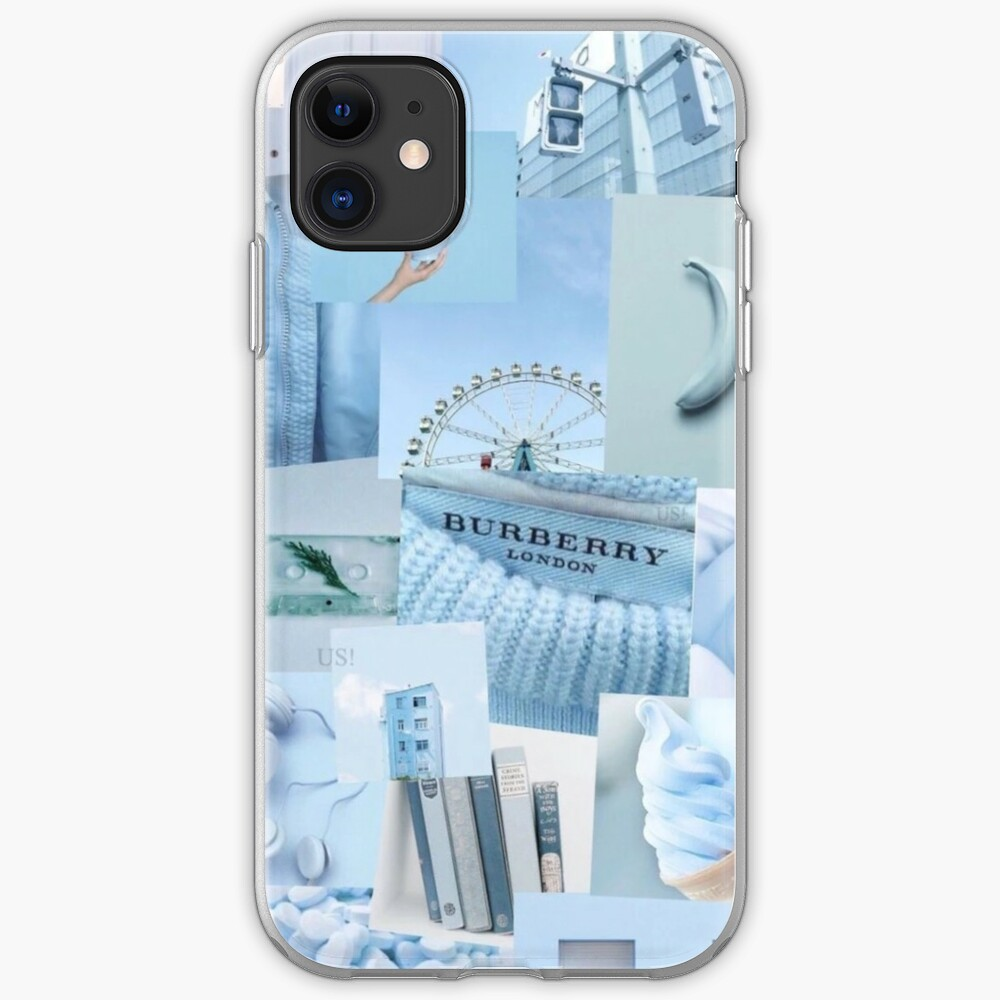 Soft Baby Blue Aesthetic Collage Instagram Mood Board Theme Wallpaper Iphone Case Cover By Jeonqz Redbubble