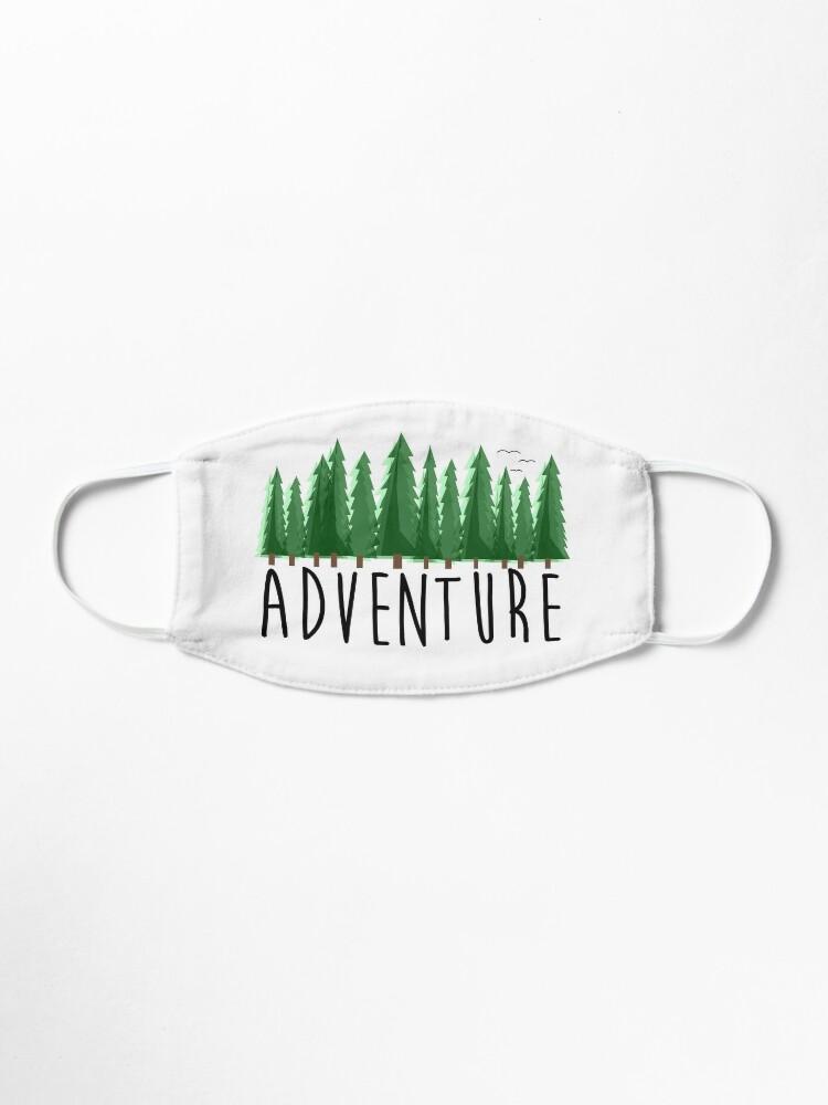 Alternative Ansicht von Abenteuer, Reisen, Natur erkunden Maske