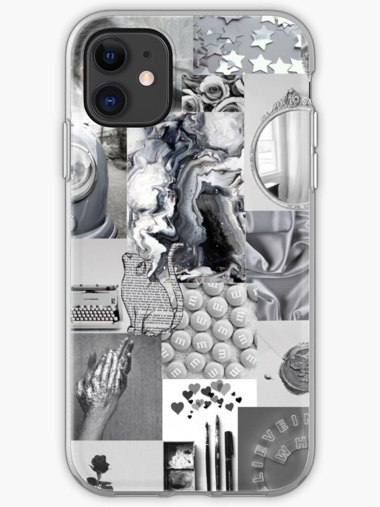 Black And White Aesthetic Collage Instagram Mood Board Theme Wallpaper Iphone Case Cover By Jeonqz Redbubble