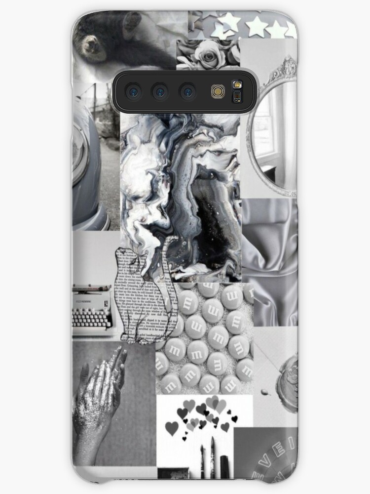 Black And White Aesthetic Collage Instagram Mood Board Theme Wallpaper Case Skin For Samsung Galaxy By Jeonqz Redbubble