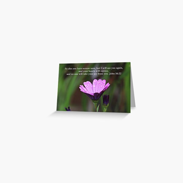 Your Hearts will Rejoice John 16:22 Greeting Card